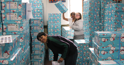 Elves sorting - the lifting isn't heavy thank goodness